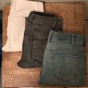 Free People Skinny Low Rise Destroyed Jeans